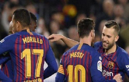 Babak Pertama Barcelona VS Levante 1-0