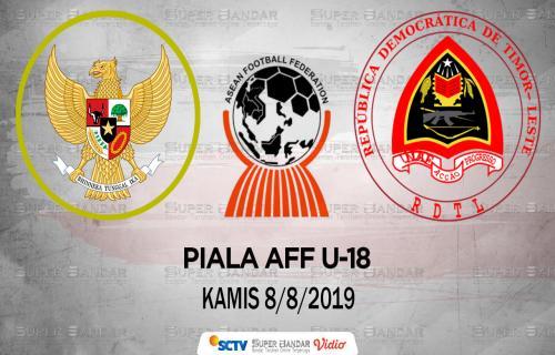 Jadwal Siaran Piala AFF U-18 2019: Timnas Indonesia U-18 Vs Timor Leste